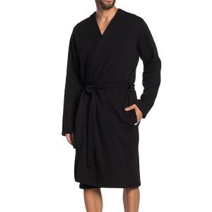 UGG MEN'S PRESTINE LOUNGE ROBE BLACK SIZE L/XL